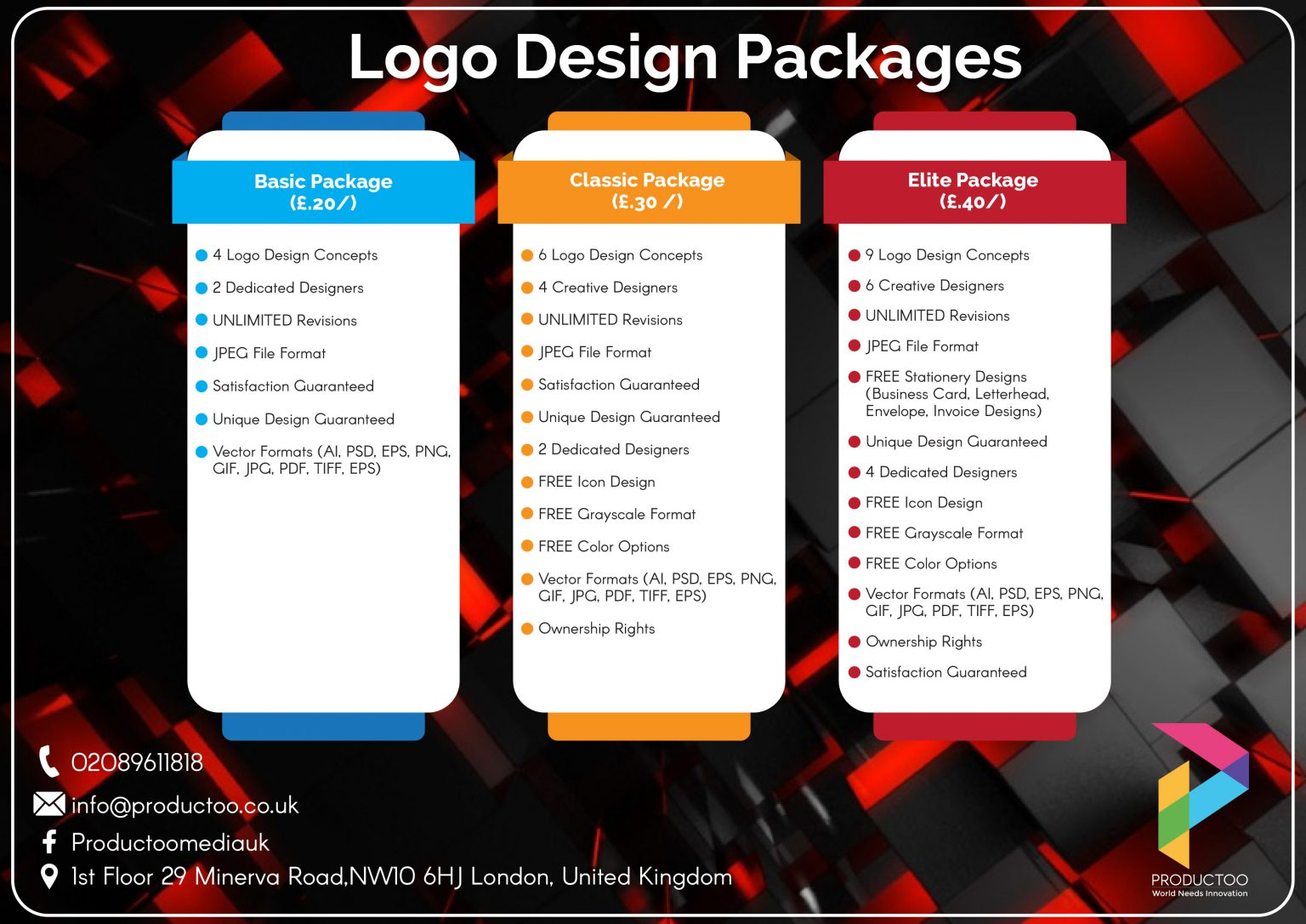 Productoo logo package