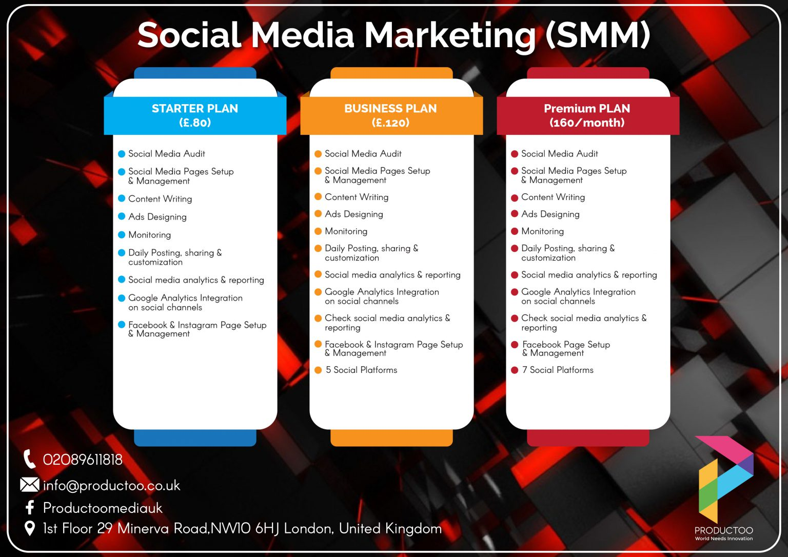 Productoo social media package