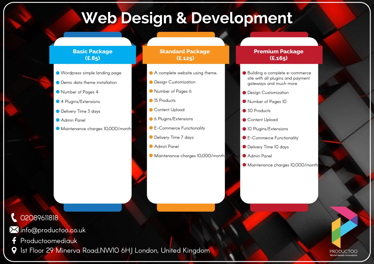 Productoo website package